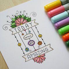 #drawing #doodle #lettering #markers #flower #todaywillbeamazing #inspiration #instaart #art #рисование #рисунок #маркеры #вдохновение #творчество