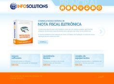Desenvolvimento de website da empresa Info Solutions, empresa especialista em softwares de automação comercial.
