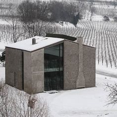 """Residential Architecture: Residence O by Andrea Tognon: """"..Italian studioAndrea Tognonhave refurbished a building with an L-shaped floor plan in Teolo, Italy, by adding the missing corner..The new extension of the two-storey building incorporates a glazed section spanning from the ground to the roof..Called Residence O, the project also involved replacing the existing overhanging roof with one that sits flush with the edges of exterior walls and a complete redesign of the interior..""""…"""