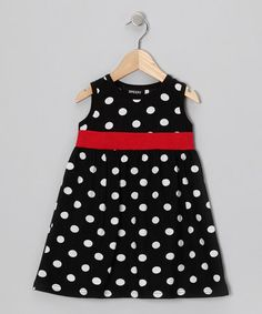Take a look at this Black & Red Polka Dot Dress - Toddler & Girls by 3 Peeps on #zulily today!