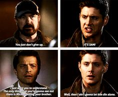 Although the guys are hot and we all love them, I wouldn't be watching if the show wasn't compelling. Moments like this, getting my heart ripped out, that's why I love Supernatural.