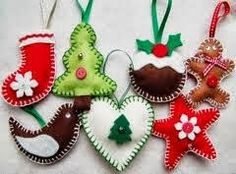DIY hágalo usted misma ¡¡: Adornos de navidad en fieltro.
