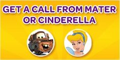 FREE Mater or Cinderella Potty Training Phone Call for the Kids! #pottytraining