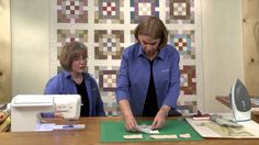 The Fons & Porter staff show you how to make the Nine Patch Garden quilt from Quilting Quickly Summer '14. Digital pattern and quilt kit available! #quilting #tutorial #howto #video