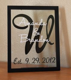 Personalized family name frame.