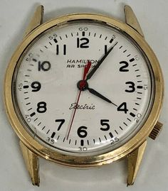 10k Gold Filled Hamilton R.R. Special Electric 505 Watch For Repair or Parts #Hamilton #Classic Vintage Watches For Men, Vintage Men, Men's Watches, Hamilton, Fashion Accessories, Electric, Classic, Gold, Derby