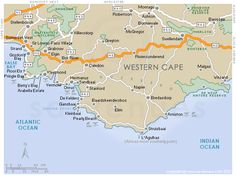 CAPE OVERBERG Map, South Africa