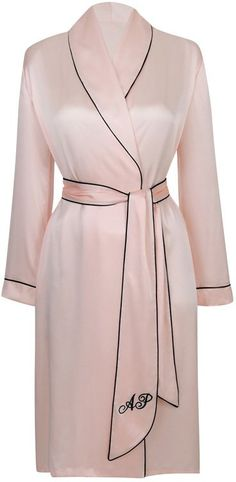 Pin for Later: You& Want to Wear This Nightwear All Day Long Agent Provocateur Classic Dressing Gown Pink Agent Provocateur Classic Dressing Gown Pink Dressing Gown Pattern, Pink Dressing Gown, Kimono Dressing Gown, Agent Provocateur, Pink Silk Robe, Silk Bathrobe, Pink Fashion, Fashion Outfits, Steampunk Fashion