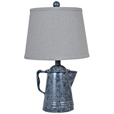Crestview Collection Java Antique Pot Table Lamp - #8V376 | LampsPlus.com
