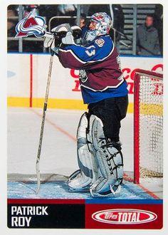 Hockey Cards: Patrick Roy, G, Colorado Avalanche. Hockey Rules, Hockey Teams, Hockey Players, Hockey Stuff, Patrick Roy, Saint Patrick, Colorado Avalanche, Hockey Cards, Montreal Canadiens