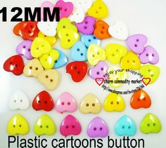 200PCS mixed color HERARTS' pattern plastic cartoons cloth  buttons  jewelry accessory P-057 $2,98