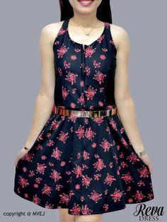 Large Frames, Skater Dress, Korean, Zipper, Belt, Fashion Outfits, Printed, Fabric, Dresses