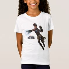 Black Panther Shuri With Vibranium Gauntlets T-shirt, Kids Unisex, Size: Youth XS, White Shuri Black Panther, Black Panther Character, Marvel Store, Letitia Wright, Adventure Style, Colorful Shirts, Fitness Models, T Shirts For Women, Casual