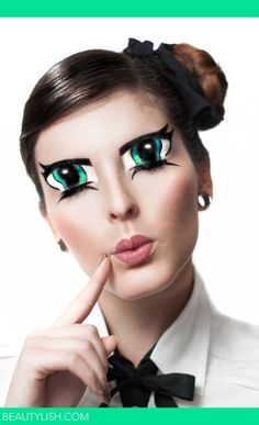 Anime eyes on your eyelids? Creepy?  I find this funny (only works when the eyes are closed!)  :)