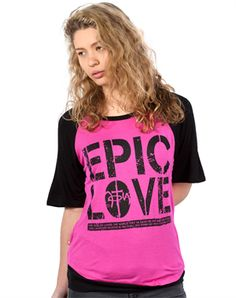 The Epic Love Boxy Raglan FashionTops