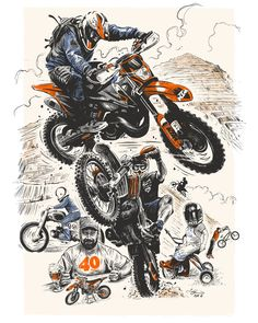 A commissioned illustration for enduro rider / bmxer / old friend James Hitchcox for his 40th birthday.