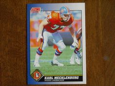 Karl Mecklenburg Denver Broncos Inside Linebacker Card No. 77 (FB77) 1991 Score Football Card - for sale at Wenzel Thrifty Nickel ecrater store