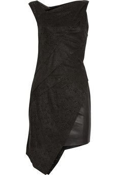 Laser-cut leather dress by Helmut Lang