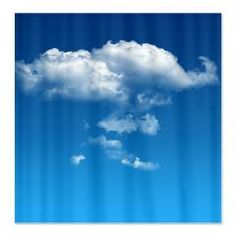 Clouds Fabric Shower Curtain