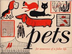 Pets (From Equitable Life Assurance Society of the U.S., printed in 1956).