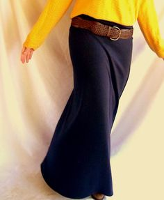 Morning by Morning Productions: Simple Sewing - Knit Maxi Skirt Tutorial