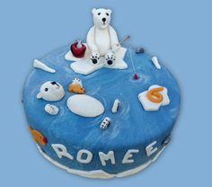 Polarbear cake - IJsberen taart
