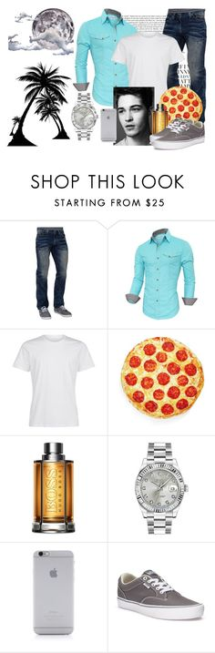 """""""015 From Italy to California Coast"""" by berry2206 on Polyvore featuring Affliction, Levtex, HUGO, Rolex, Native Union, Vans, Seletti, men's fashion, menswear und DateNight"""