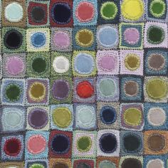 Sophie Digard - velvet centers - does she embroider the edges, then use that to crochet the squares? How awesome is this?