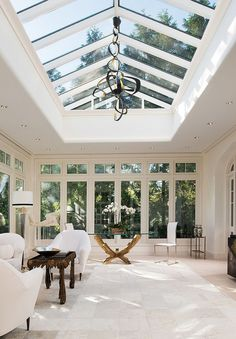 Soak in the sunlight all year round with the top 60 best sunroom ideas. Explore bright glassed-in solarium designs from modern to traditional for your home. Sunroom Decorating, Sunroom Ideas, Small Sunroom, Roof Lantern, Design Living Room, Scandinavian Interior Design, Nordic Design, Scandinavian Architecture, Interior Architecture