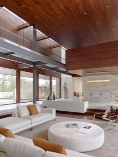 contemporist - modern architecture - swatt miers architects - oz residence - silicon valley - california - interior view - living room