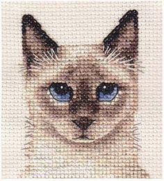 SIAMESE CAT, KITTEN ~ Full counted cross stitch kit + All materials