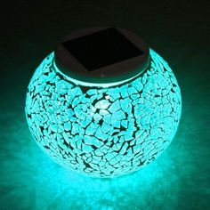 Solar Table Lights, Color Changing Solar Powered Glass Ball Led Lights, O