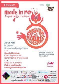 Vizual Made in RO Targ de design romanesc 25 26 mai Una ca Luna a creat pentru Made in RO o ie de Făgăraş, din 9 farfurii pictate cu motive ...