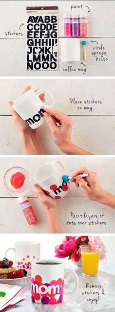 DIY Mom mug - Mother's Day gifts - paint a mug