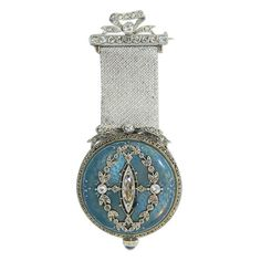Paul Buhre Gold, Diamond and Enamel Lapel Watch Retailed by Van Cleef & Arpels | 1stdibs.com