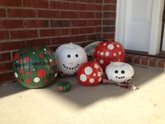 re-purposed pumpkins for christmas Pumpkin Snowmen, Christmas Pumpkins, Whoville Christmas, Christmas Porch, All Things Christmas, Christmas Time, Christmas Ideas, Christmas Wreaths, Christmas Bulbs