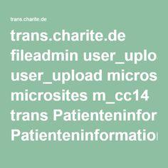trans.charite.de fileadmin user_upload microsites m_cc14 trans Patienteninformationen Blutplaettchenfunktionsstoerung.pdf
