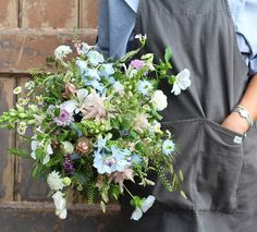 Natural whimsical bridal bouquet by www.hannahberryflowers.co.uk