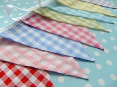 Bright and Cheery Bunting - GINGHAM