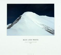 Hamish Fulton. Titel: Blue and White Bolivia