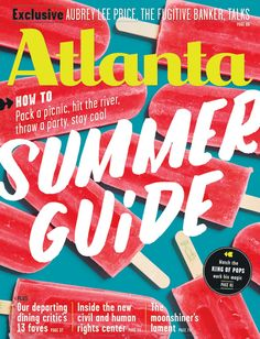 """Fresh summer cover Atlanta Magazine: """"Founded in Atlanta magazine is one of the oldest city magazines in the country and during its forty-nine-year history has earned its mark as one of the most respected for journalistic and design. Food Graphic Design, Graphic Design Typography, Print Design, Web Design, City Magazine, Magazine Design, Layout Inspiration, Graphic Design Inspiration, Atlanta Usa"""