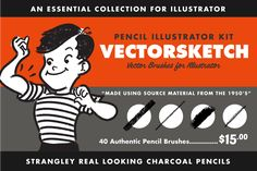 Ad: Vector Brush Toolbox for Affinity by RetroSupply Co. on The Vector Brush Toolbox for Affinity Designer is the ultimate brush kit for Affinity Designer illustrators. A collection of five of our Texture Web, Line Texture, Adobe Illustrator, Illustrator Tutorials, Compressed Charcoal, Charcoal Sticks, Vector Brush, Ink Splatter, Sandwich Board