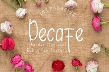 Decafe Font with Ruling Pen Texture by Arendxstudio on @creativemarket