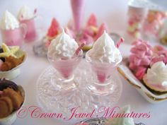 Crown Jewel Miniature's Marie Antoinette style dessert collection
