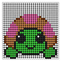 Pinki Turtle Perler Bead Pattern / Bead Sprite