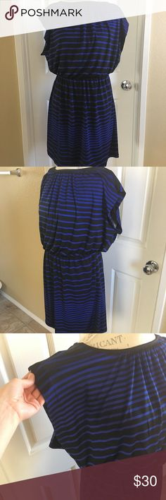 🔥SALE🔥New Never worn Dress without tags Cute casual blue and black striped dress.NWOT Dresses Maxi