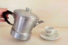 Antique Italian Coffee pot Espresso 2000 '40s stove by IdeeRetro