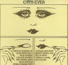 1920's how to make cat eyes--art deco gal's
