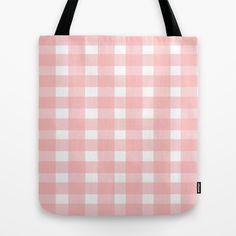 #Pink #Gingham Design #Tote #Bag