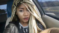 Platinum blonde box braids